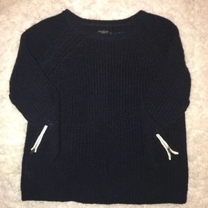 Ann Taylor Navy Knit Sweater
